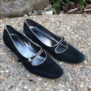 Donald J Pliner Couture Black Suede Mary Janes